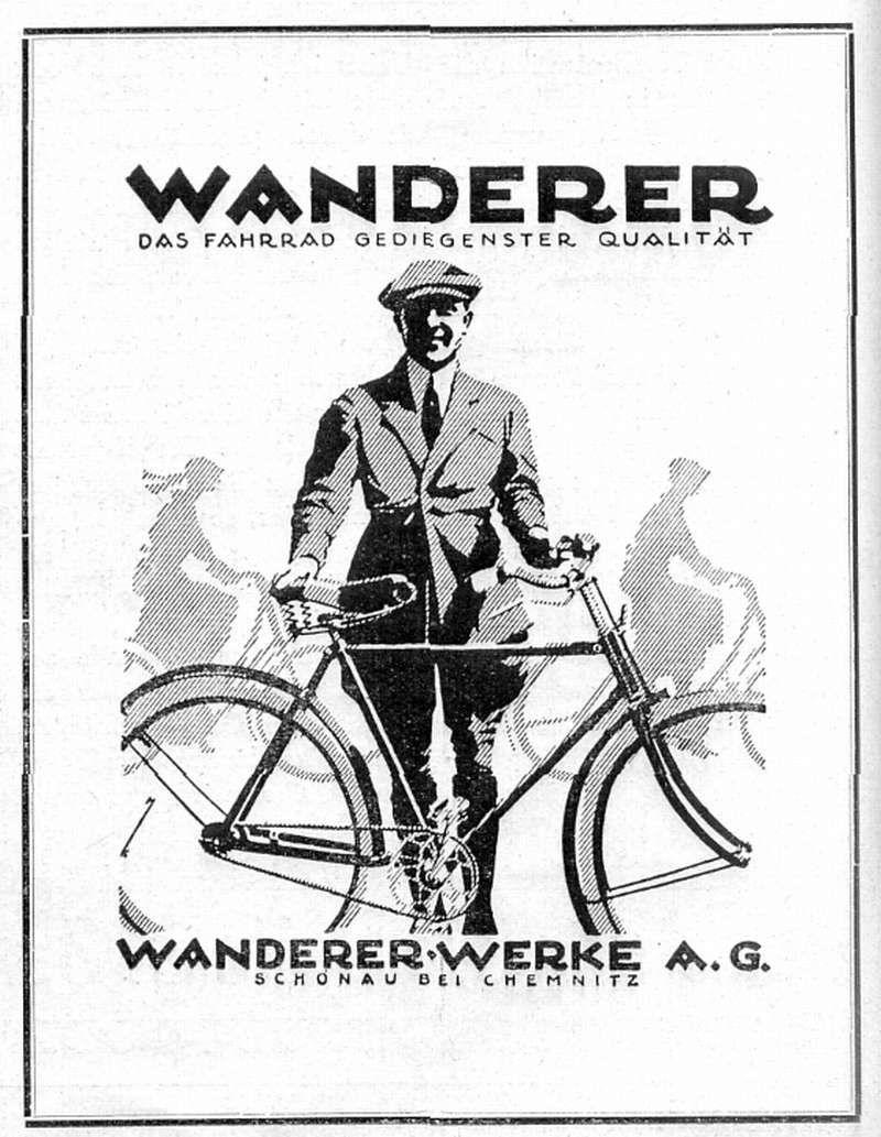Wanderer Werke Vorm Winklhofer Jaenicke Anzeige Fahrrad