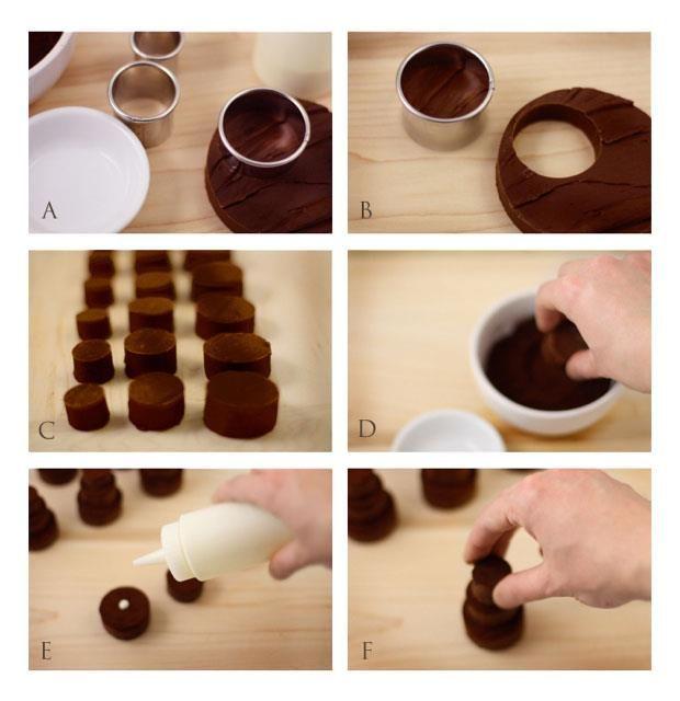 How Sweet Are These Little Chocolate Fudge Cake Towers Heres How - Fudge Wedding Cake