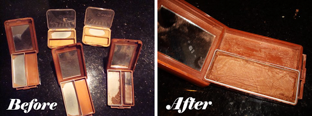 How to repair shattered makeup