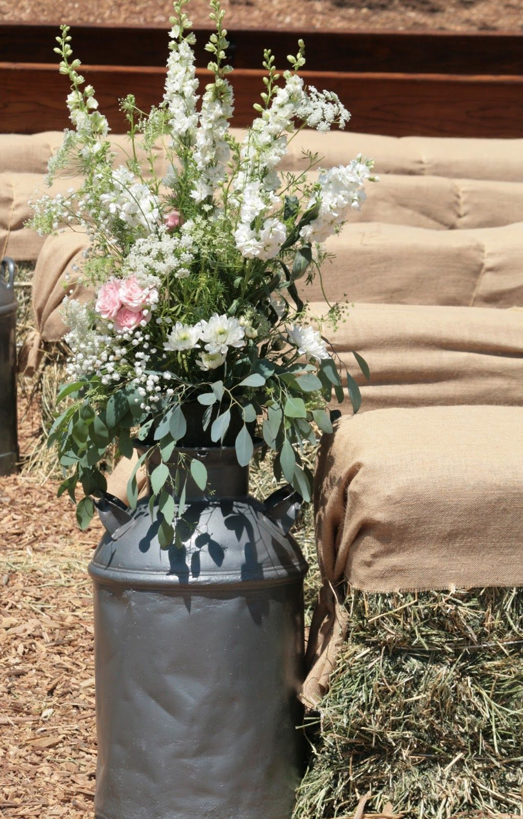 Flower Arrangements In Milk Cans Google Search Milk