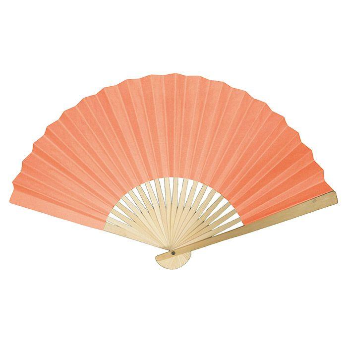 paper fan clipart. paper folding hand fan in coral - 12-15\ clipart n