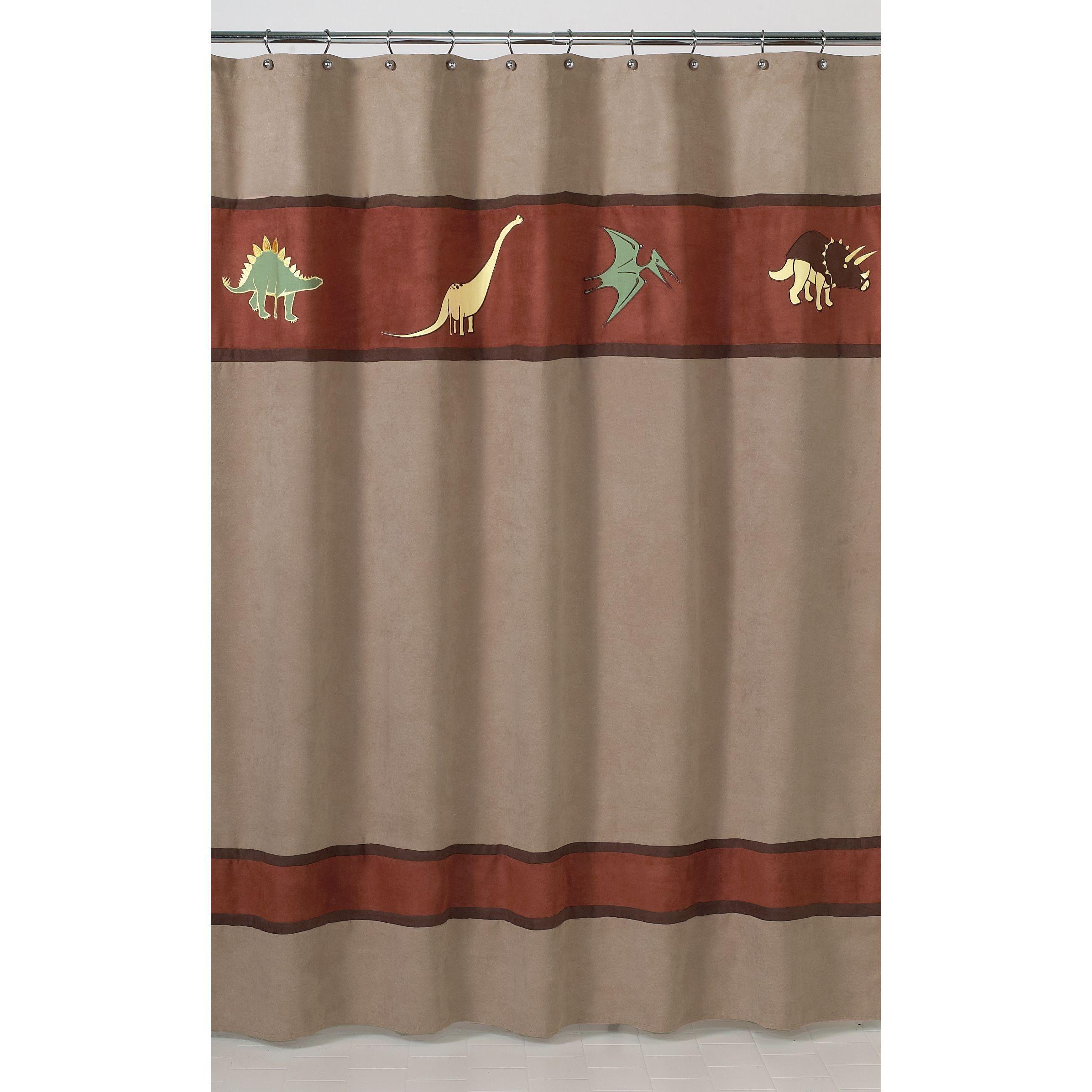 Sweet Jojo Designs Dinosaur Kids Shower Curtain By
