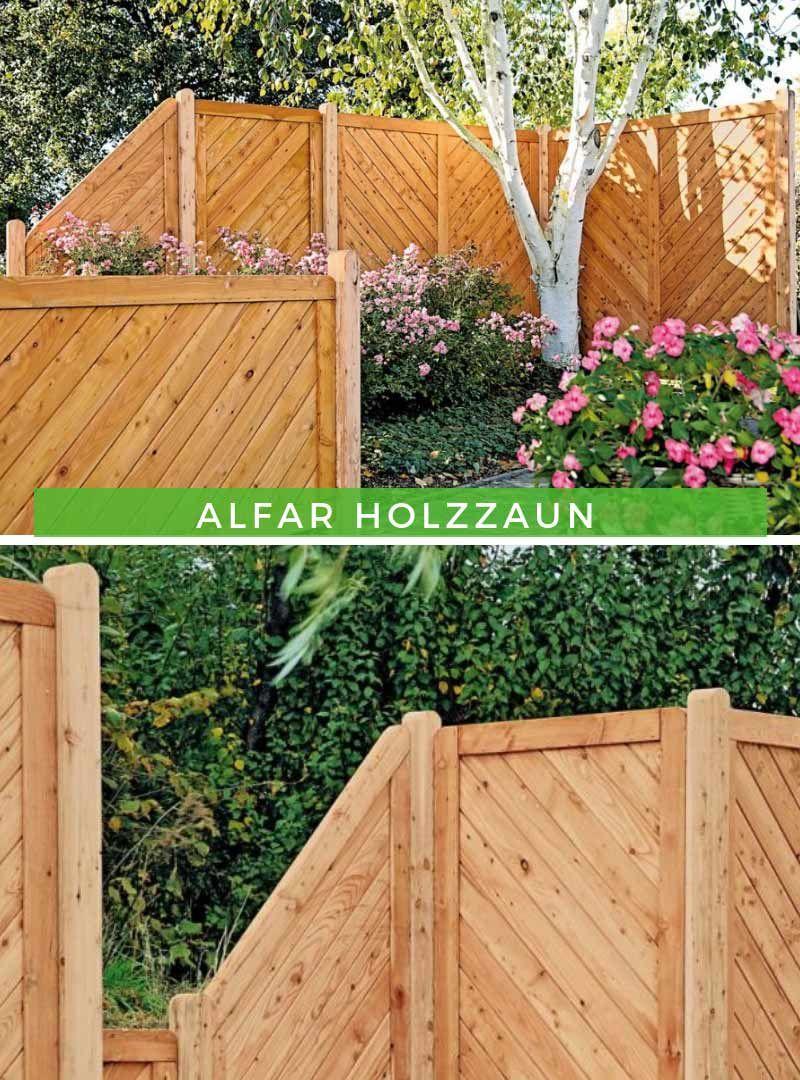 Alpholz Alfar Holzzaun Holzzaun Zaun Sichtschutz Garten
