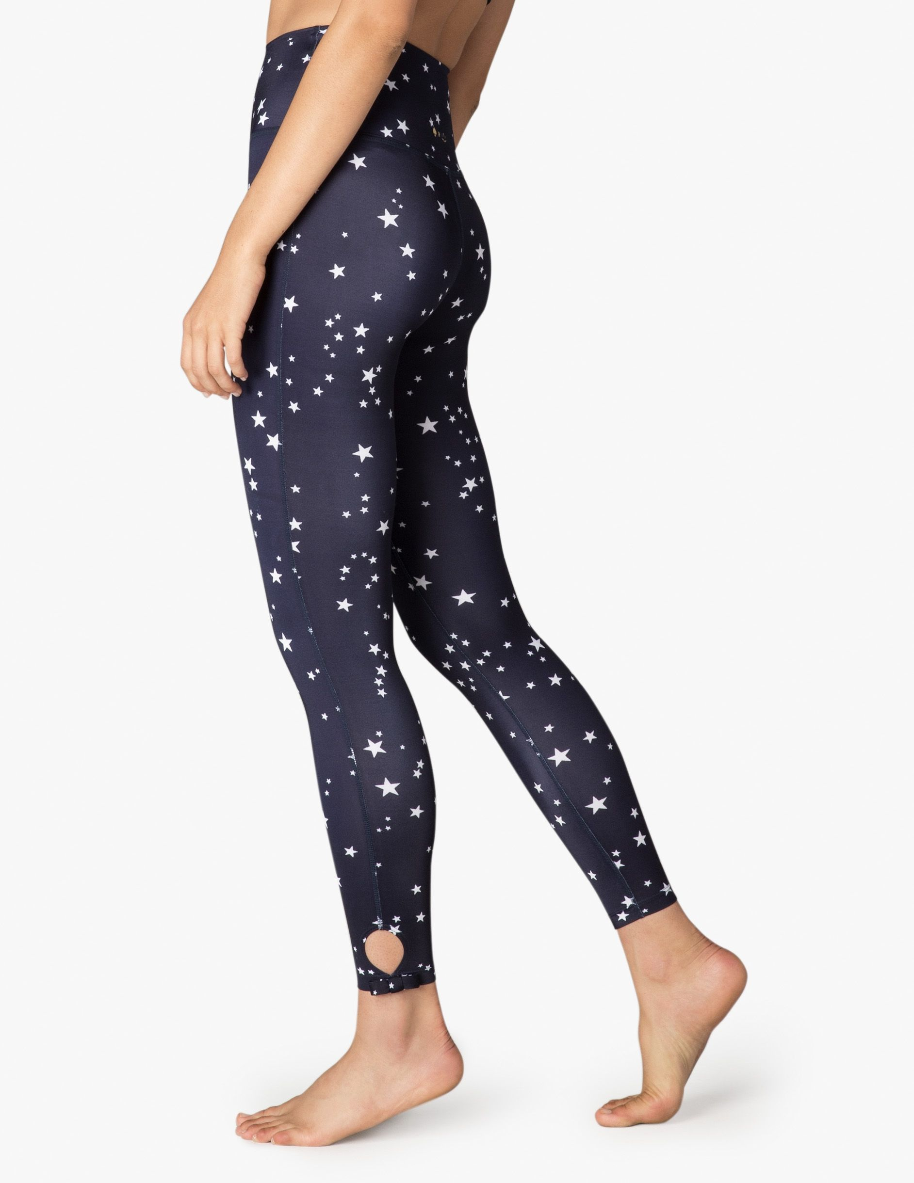 6cb4fa06074b52 Night Sky High Waisted Side Bow Midi Legging | Beyond Yoga | workout ...