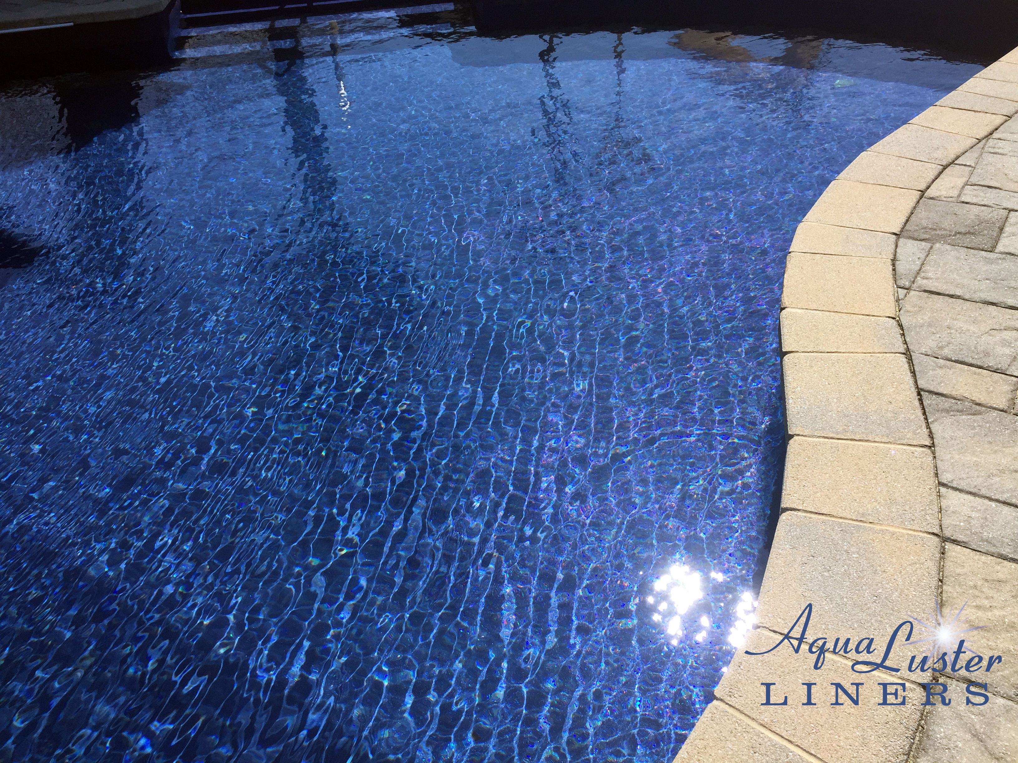 Introducing Our New Aqualuster Vinyl Liner Pattern San Clemente This All Over Embossed Pattern Is Made Pool Liners Inground Inground Pool Designs Vinyl Pool
