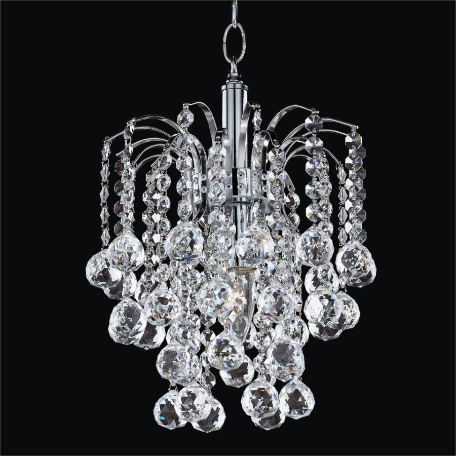 Wonderful Image Of Small Crystal Chandeliers Home Design