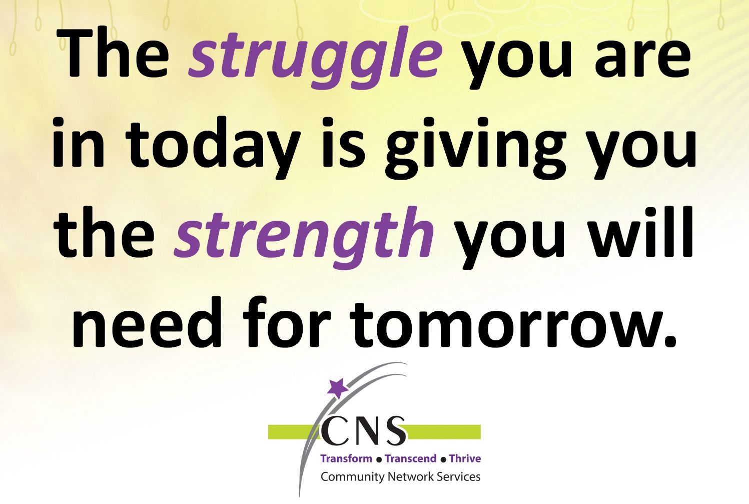 Community Network Services Cns, Struggling, Empowerment