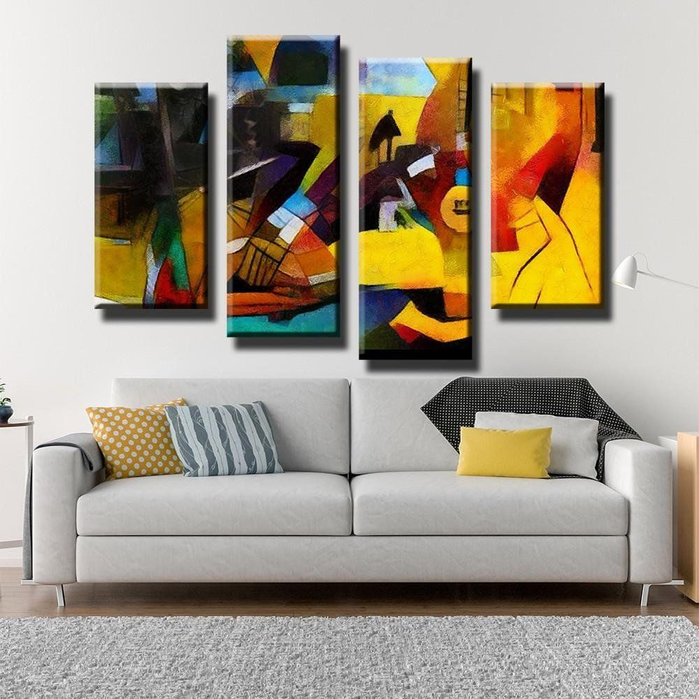 Abstract Art Canvas Set Fantasy Wall Art Gallery Wrap Etsy Fantasy Wall Art Art Gallery Wall Lion Wall Art