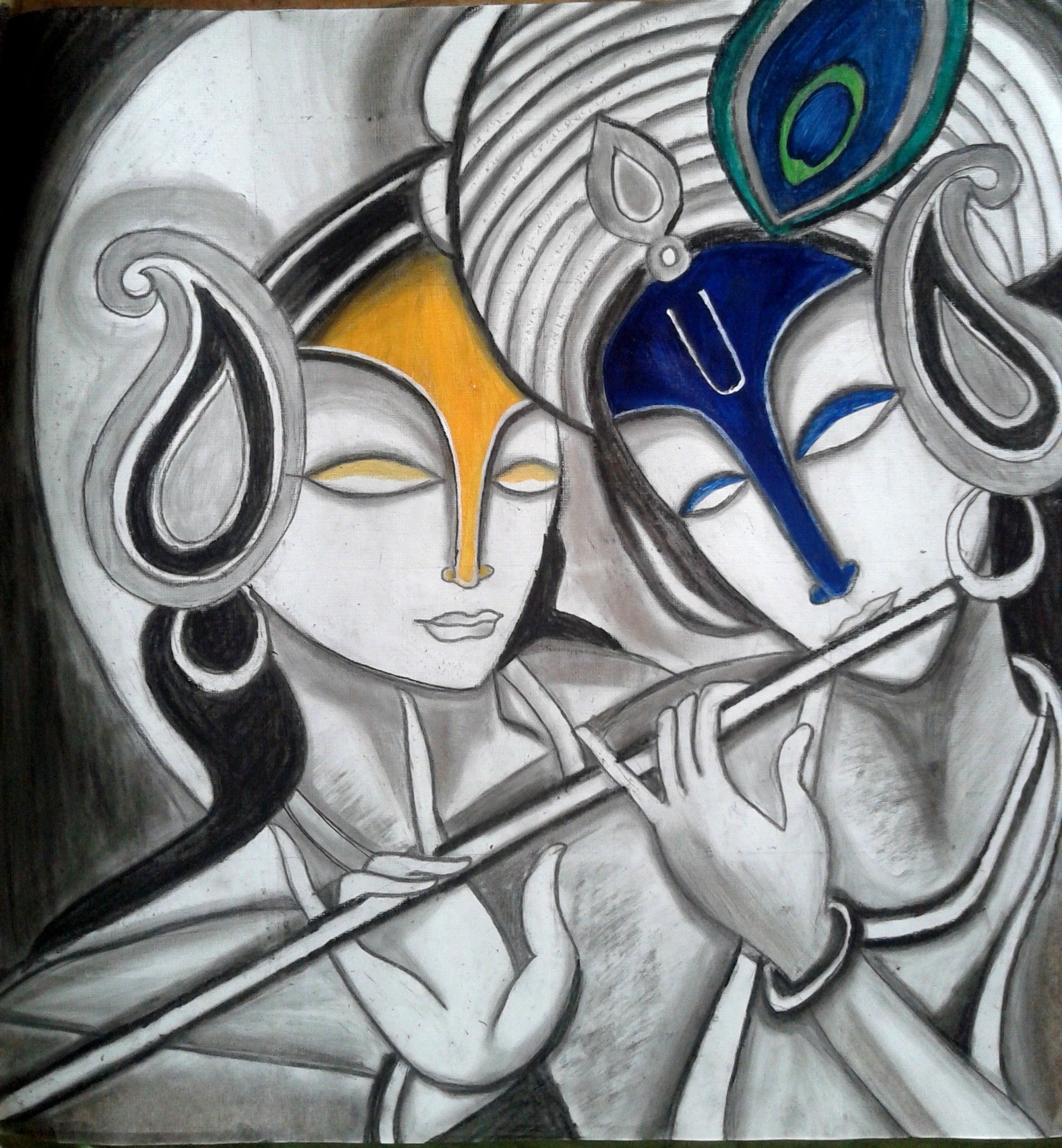 Radha Krishna Abstract Paintings