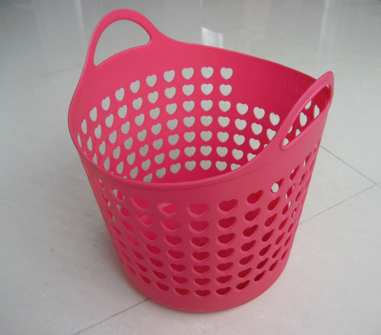 Pink Plastic Laundry Basket Pink Laundry Basket With Heart Designs 3 Limeroad  Click And
