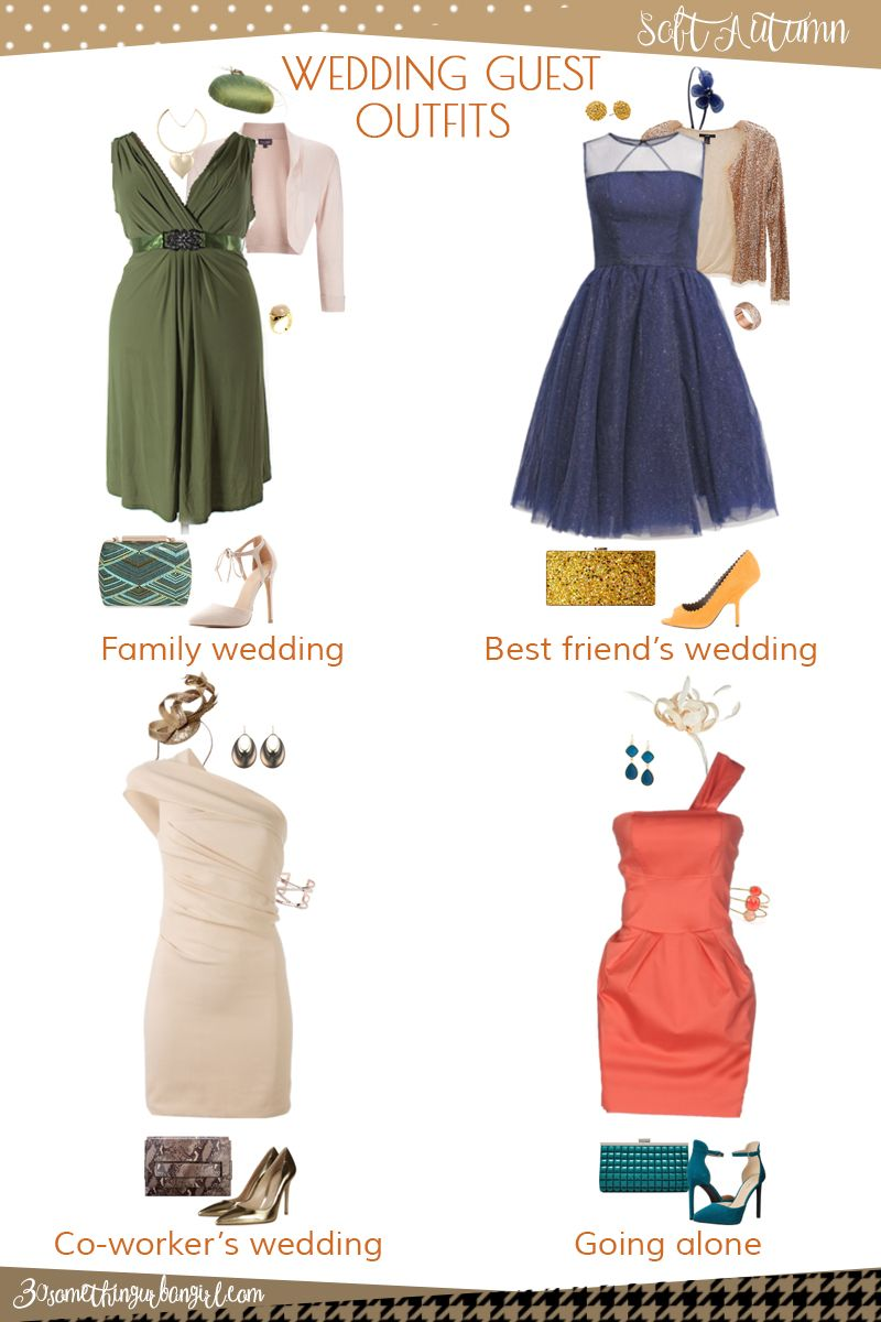 32ac72661f0 Wedding guest outfit ideas for Soft Autumn women by  30somethingurbangirl.com    Are you invited to a family