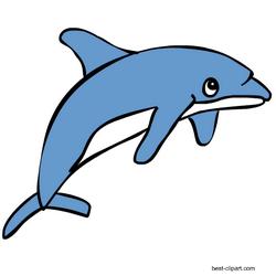 Free Cartoon Dolphin Clipart With Transparent Background Cartoon Dolphin Marine Animals Dolphin Clipart
