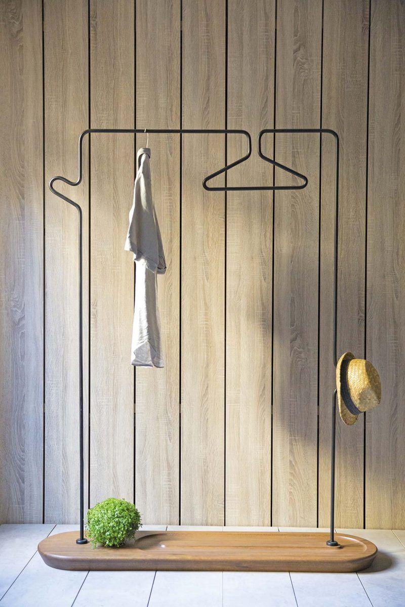 portant v tements 19 id es d co pour accrocher vos. Black Bedroom Furniture Sets. Home Design Ideas
