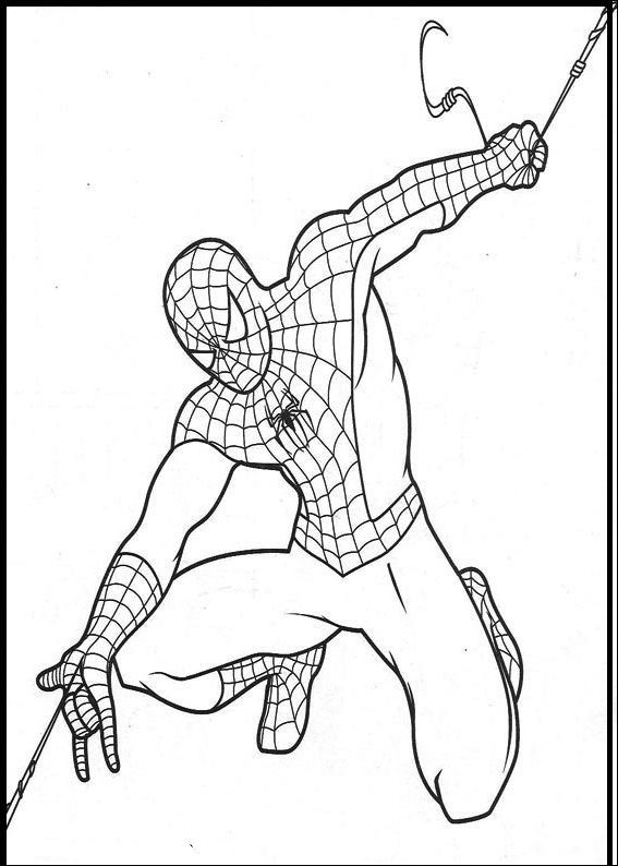 Spiderman pull out strength coloring pages