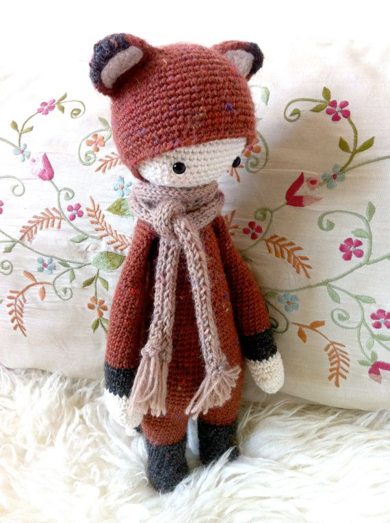 Crochet Pattern Doll FIBI the fox PDF by lalylala on Etsy