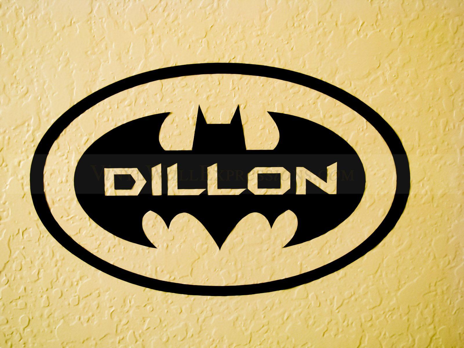 Batman Kids Vinyl Decor Personalized - Dillon - Price: $16.99 | Kids ...
