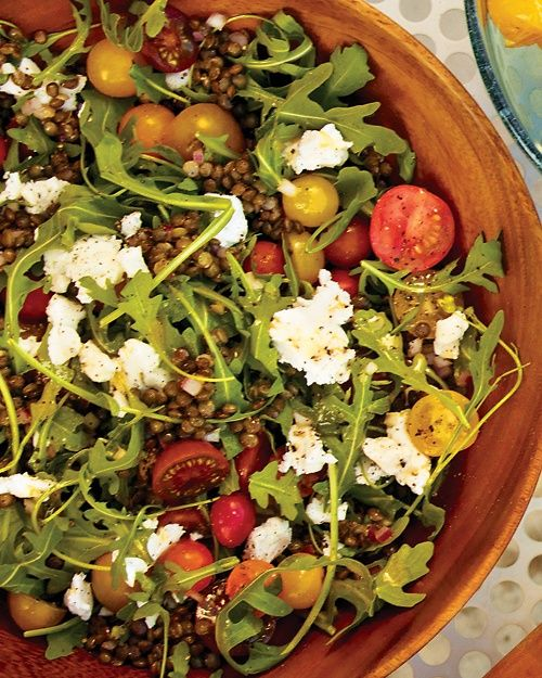 Arugula and Lentil Salad with Goat Cheese - Martha Stewart Recipes