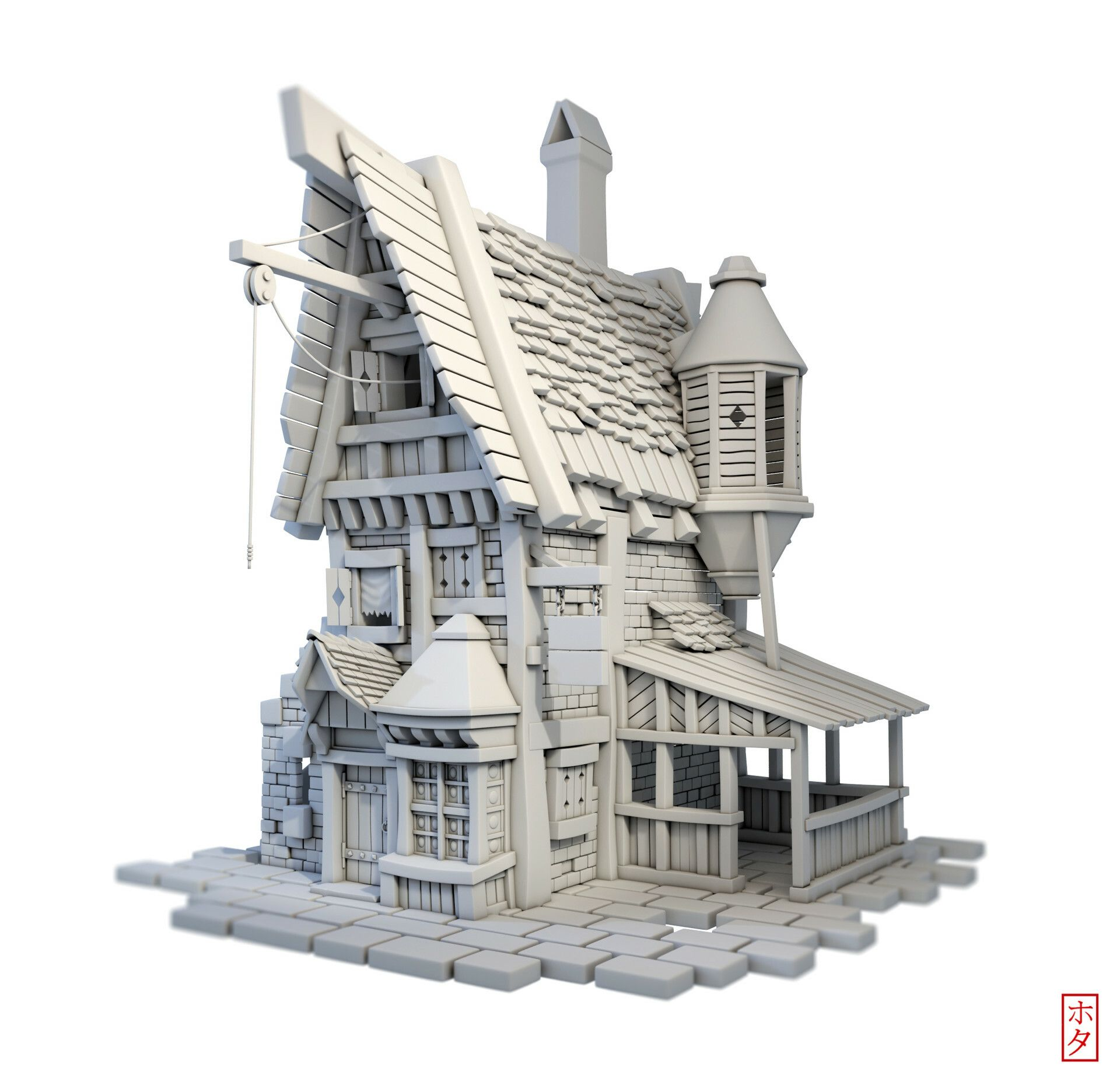 ArtStation Game Ready Little House, Hota Aisa Fantasy