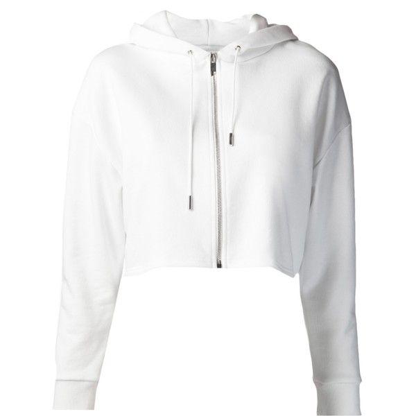 SAINT LAURENT cropped hooded sweatshirt ($660) ❤ liked on ...