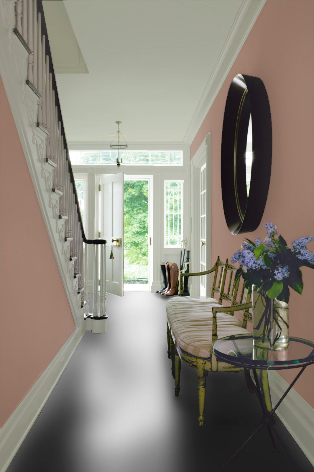 create a peaceful ambiance for all who enter your home with pratt lamberts may color - Pink Home 2015