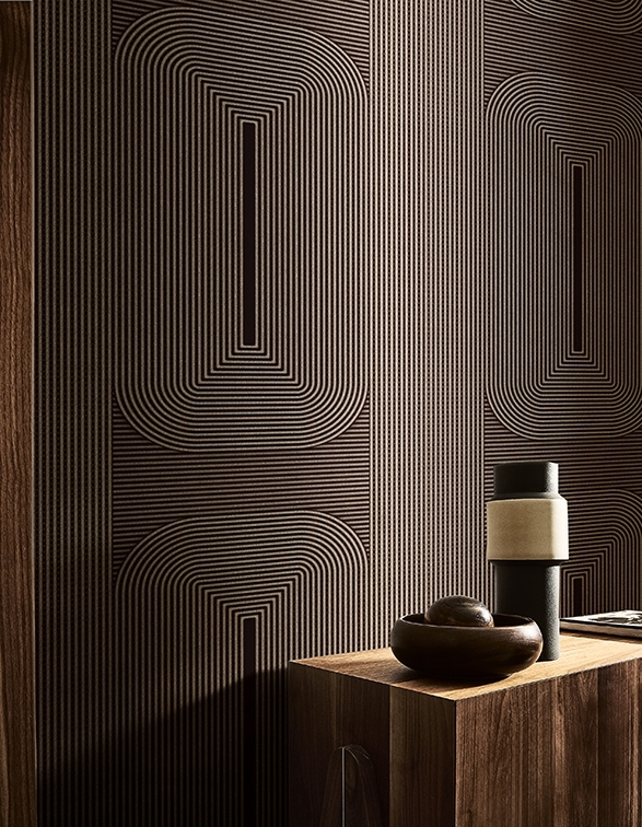 Contemporary wallpaper Wall & Decò Wall deco, Wall