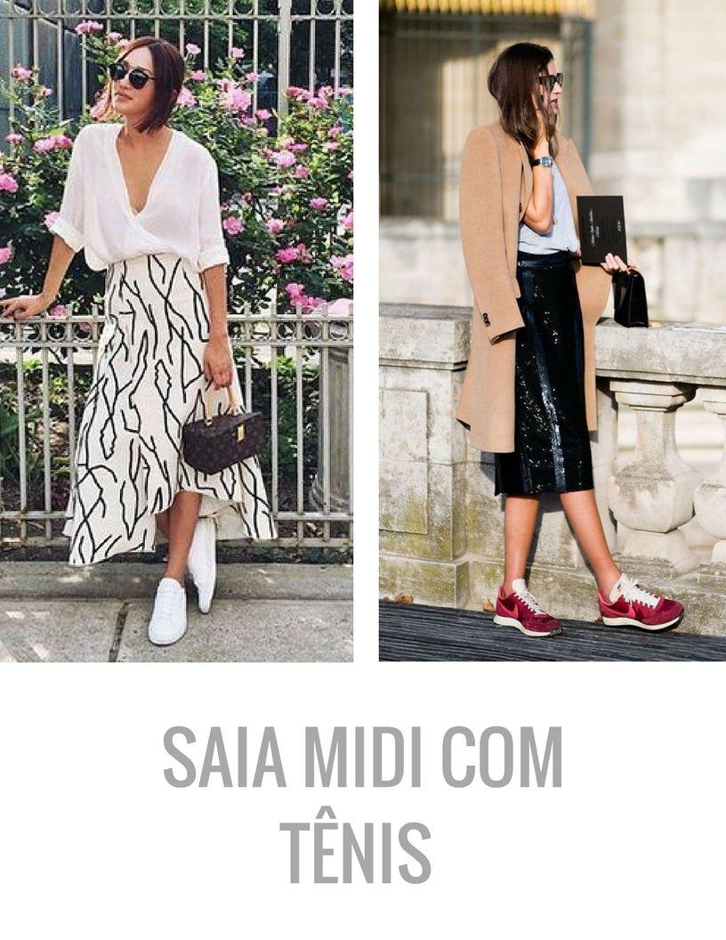 Looks despojados com Saia Midi   Looks, Idéias de moda e