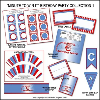 picture about Minute to Win It Blueprints Printable named Paper Perfection: Free of charge \