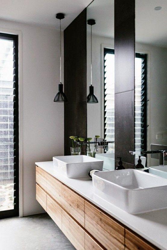 Ultra Stylish Scandinavian Inspired Home In Australia Digsdigs Modern Bathroom Vanity Bathroom Interior Modern Bathroom