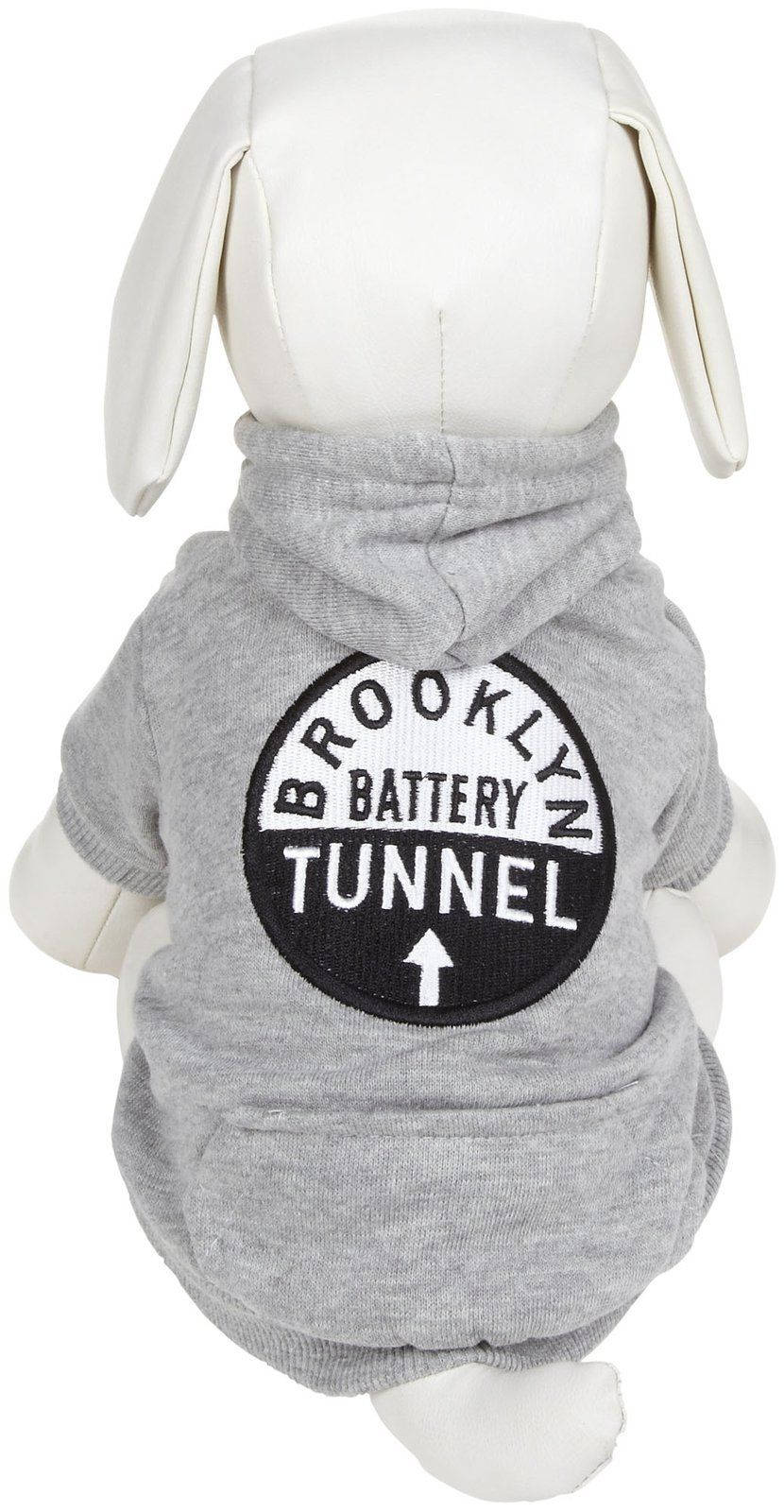 fabdog MTA Brooklyn Dog Hoodie Grey 16 >>> More info could