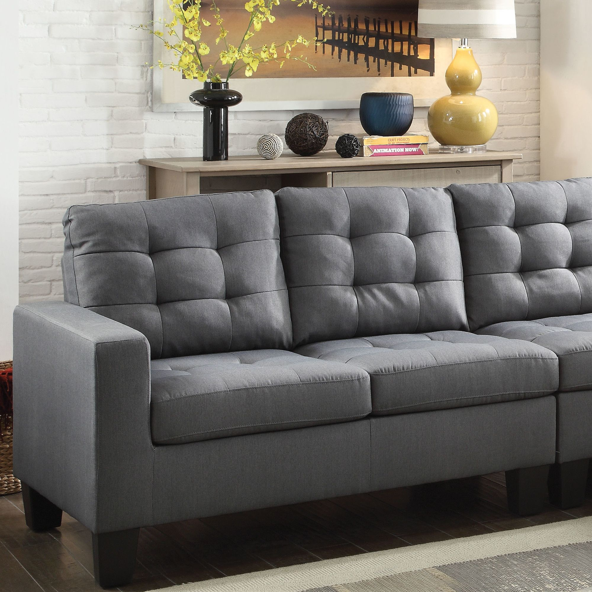Earsom Sectional Left Facing and Right Facing Loveseat