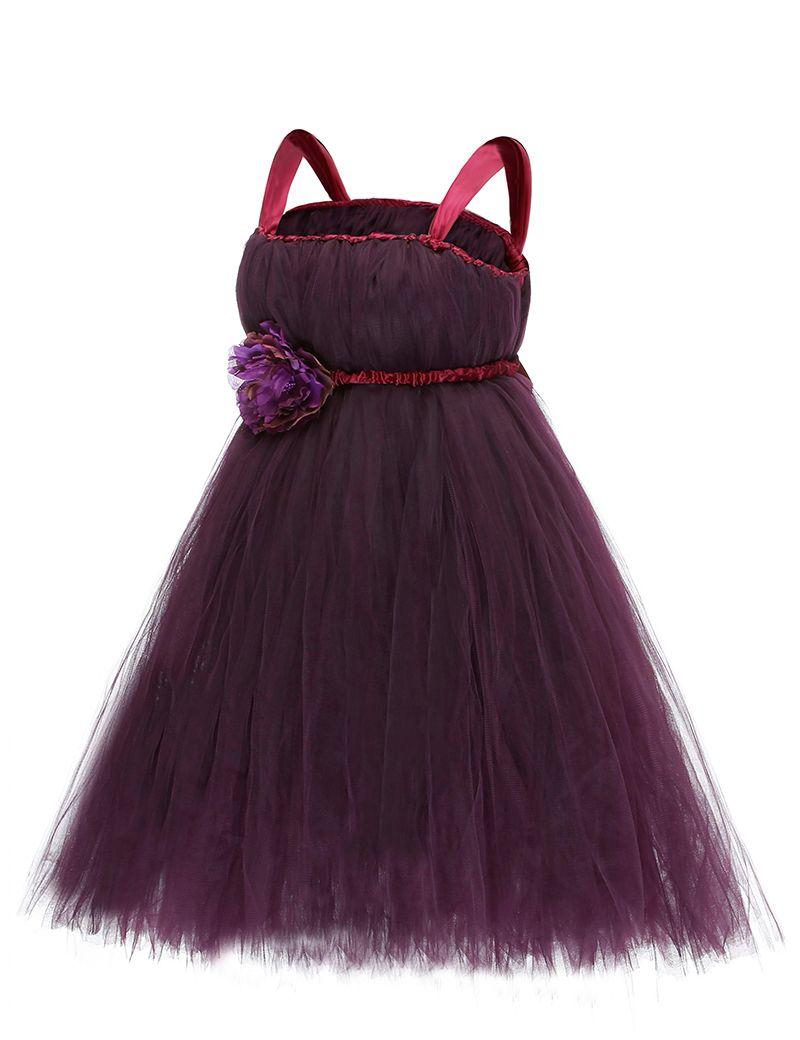 (Buy here: http://appdeal.ru/3fse ) 2016 Summer Dress Dark Purple Flower Girls Dress Cute Kids Formal Teenage Girls Dresses Party vestidos infantis festa for just US $32.95
