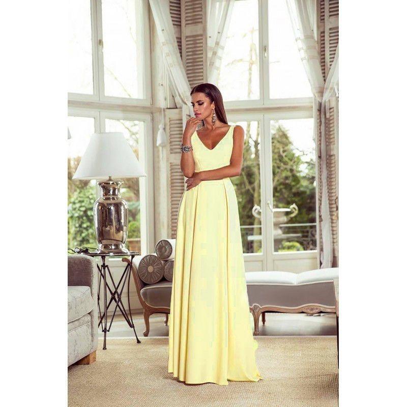 9b16754aae Sukienka Długa Jessica Żółty Bananowy http   besima.pl