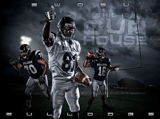 Football custom designed sports poster from Anything photos ...