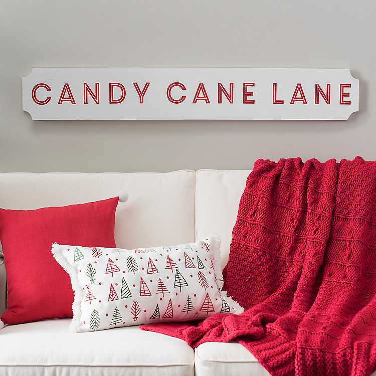 Candy Cane Lane Christmas Plaque Christmas plaques