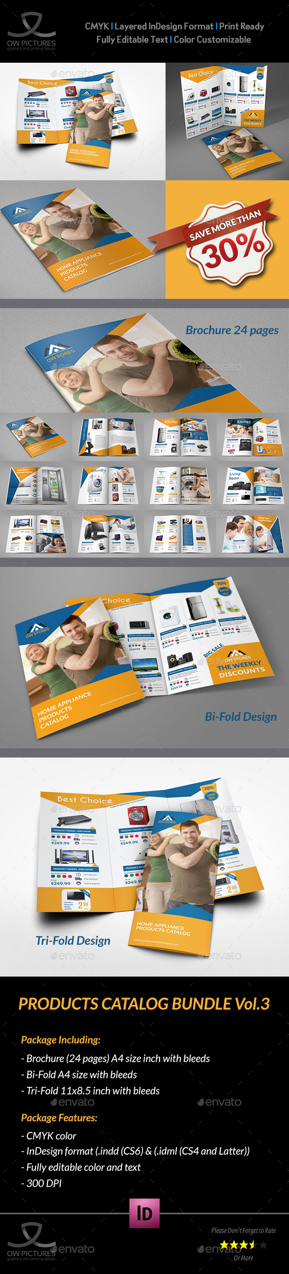 Products Catalog Brochure Template InDesign INDD Bundle | Brochure ...