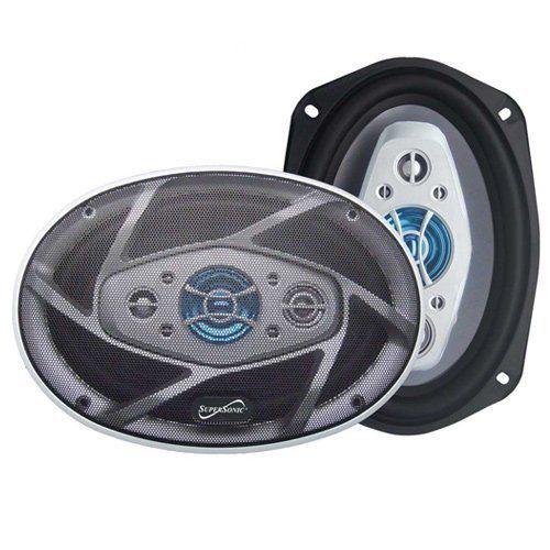 """1200 Watt 6x9"""" Car Audio Stereo Coaxial Speakers 1200W"""