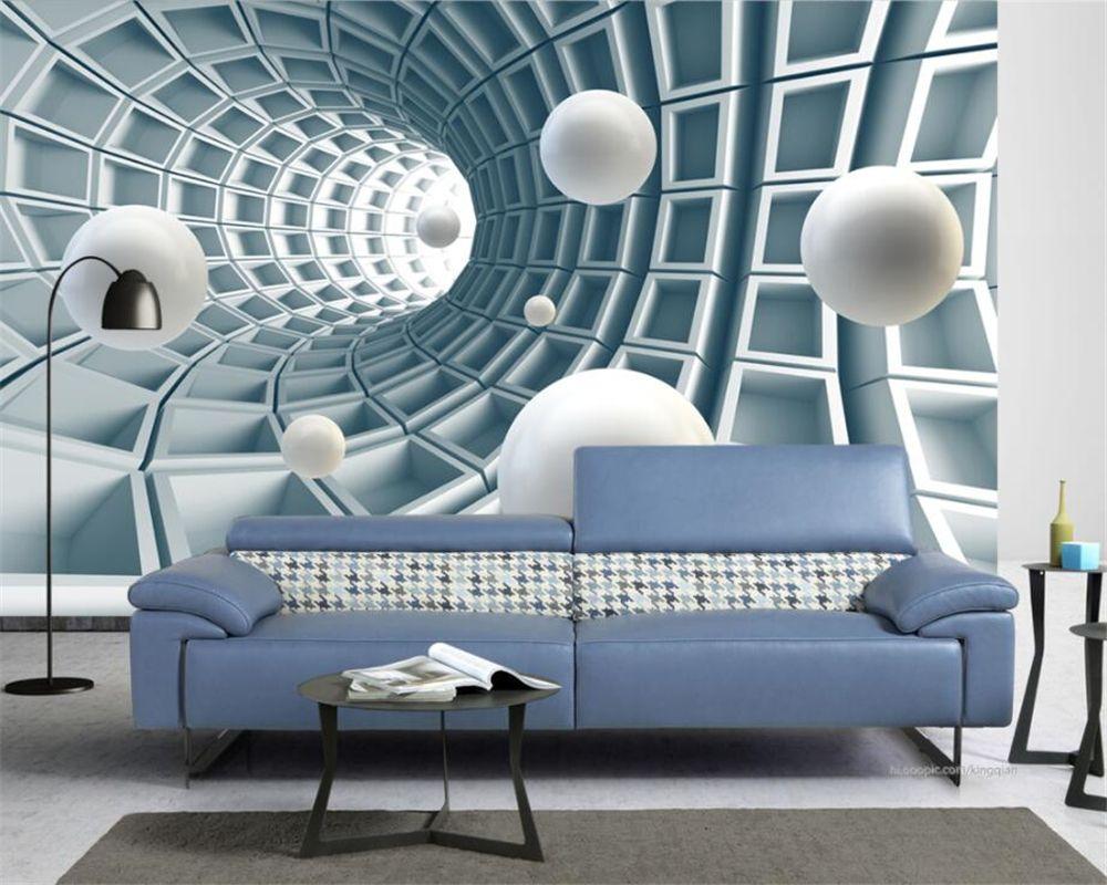 Beibehang Custom Wallpaper Home Decorative Fresco Abstract Tunnel