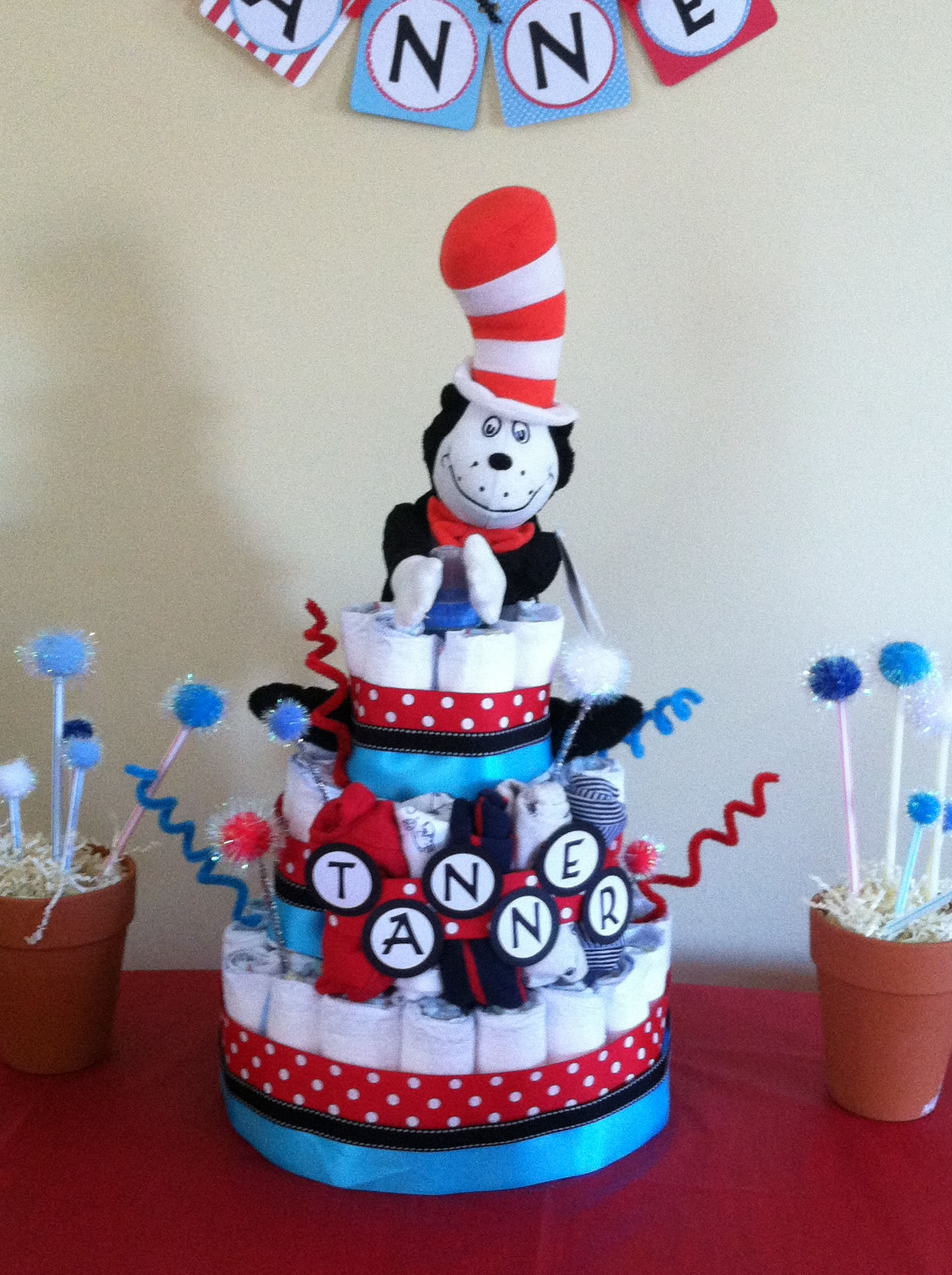 Dr Seuss Diaper Cake With Images Seuss Baby Shower
