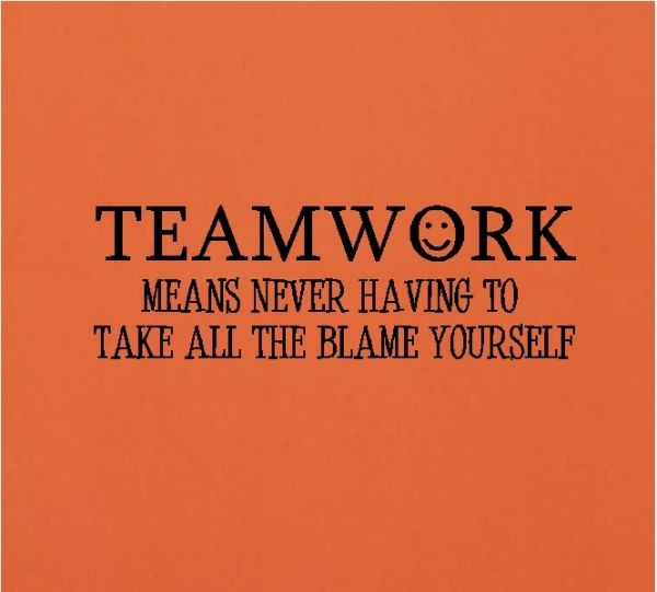 Team Building Motivational Quotes: Teamwork Mean Never Having To Teamwork Quotes Funny Wall