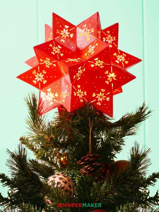 DIY 3D Paper Star Moravian 20-Point Tree Topper Paper stars, Tree