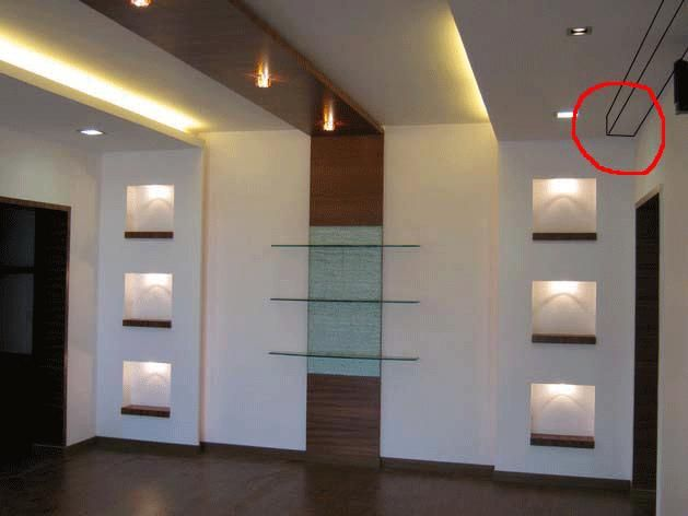 Hiding beam with false ceiling aarya2 pinterest - How to design false ceiling in living room ...