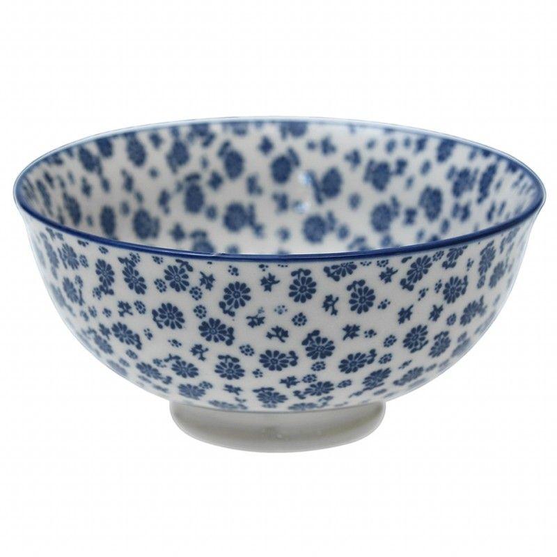 Keramik-Schale Blue Daisy Geschirr blau weiß Dishes Pinterest