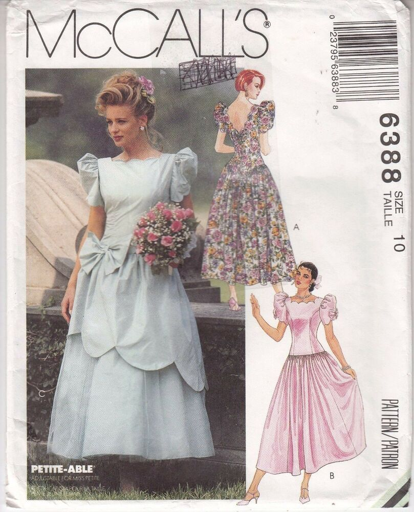 Wedding Bridal Bridesmaid Dropped Waist Mccalls Sewing Pattern 6388 Uncut 10 Mcc Flared Bridesmaid Dresses Patterned Bridesmaid Dresses Wedding Dress Patterns [ 1000 x 809 Pixel ]