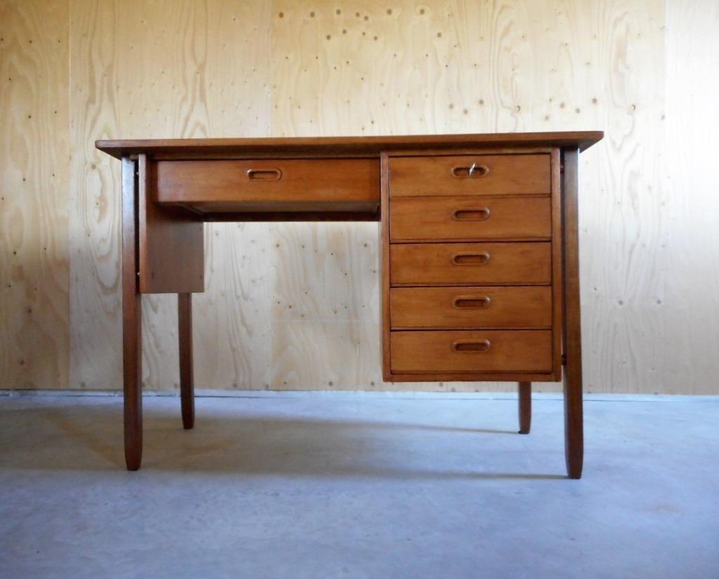 Bureaustoel Kopen Marktplaats.Jaren 60 Vintage Deens Design Bureau Bureautje Teak Bureaus