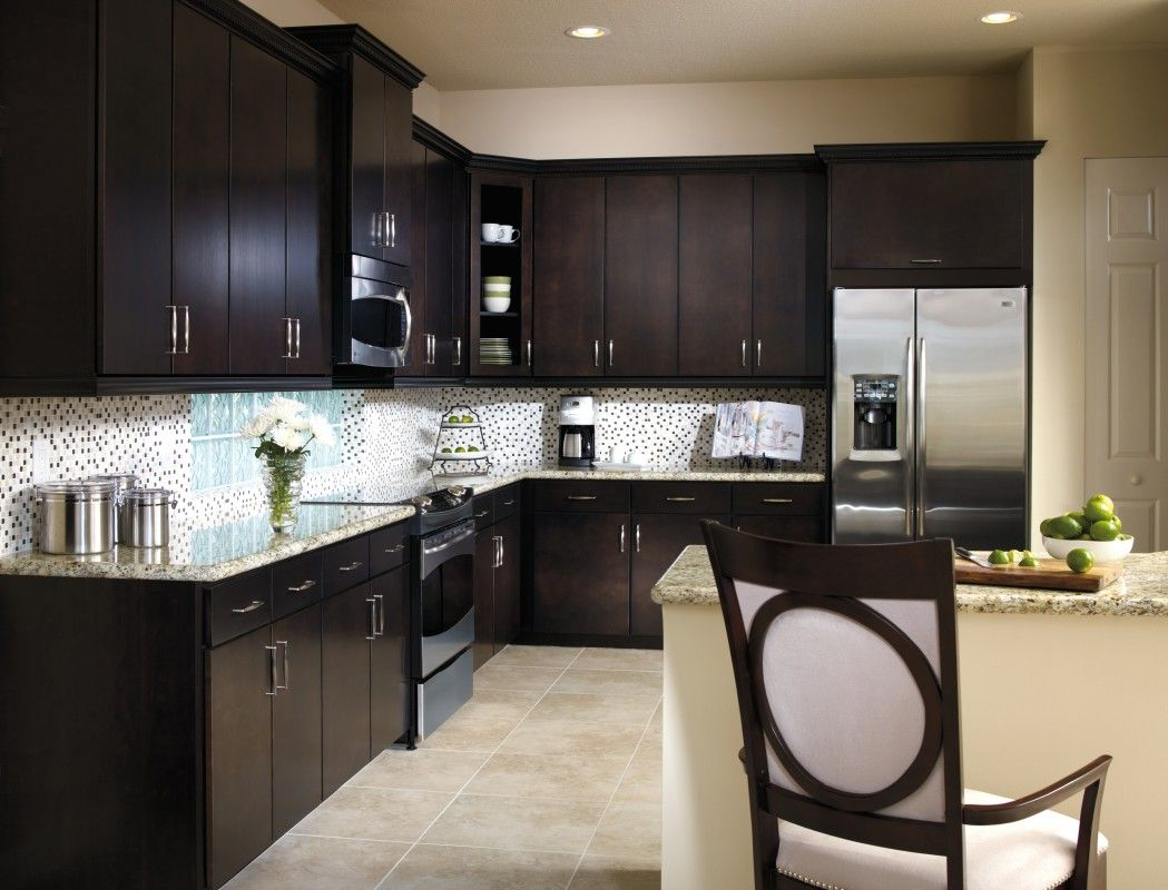 Chic Design In Aristokraft Cabinetry Teagan Door Style In The Sarsaparilla Finish Www South Birch Kitchen Cabinets Kitchen Design Kitchen Cabinets For Sale