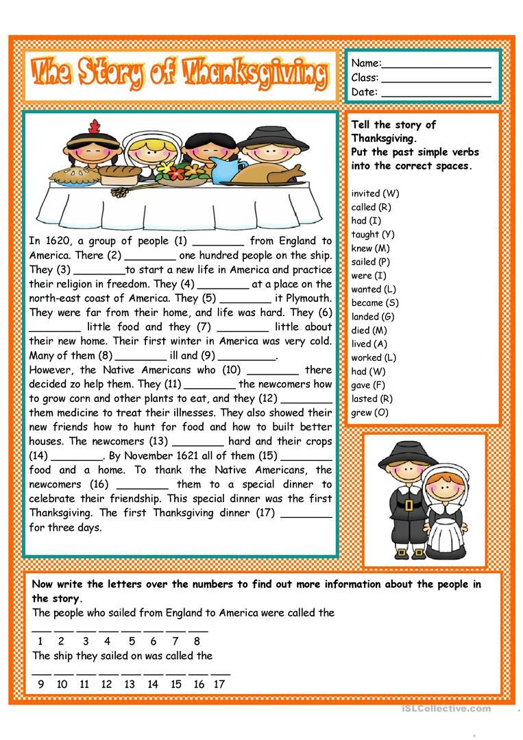 The Story Of Thanksgiving Thanksgiving Stories Thanksgiving Reading Comprehension Thanksgiving Readings [ 1079 x 763 Pixel ]