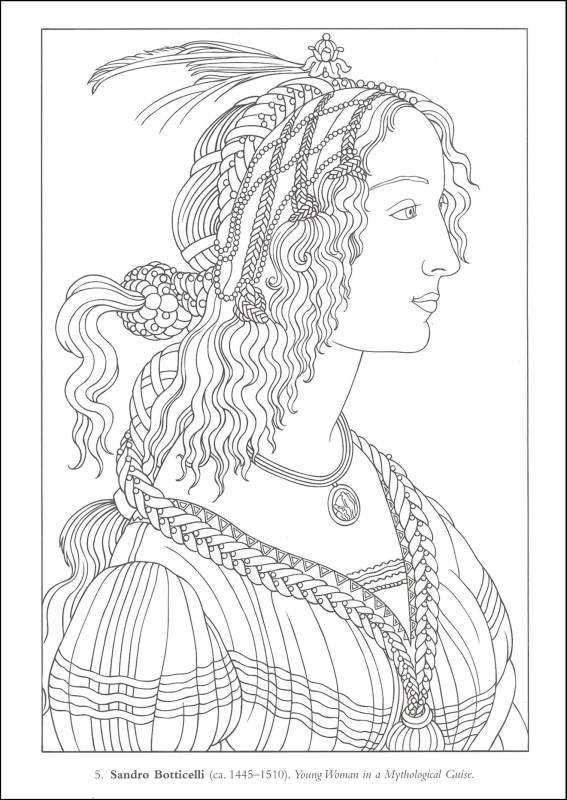 Color Your Own Italian Renaissance Paintings Dover Masterpieces Additional Photo Inside Page