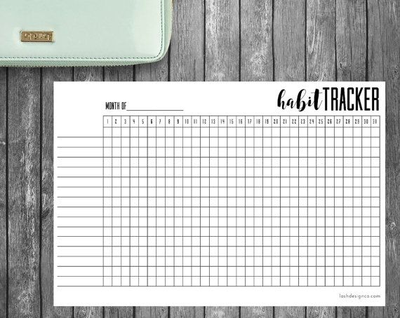 A Printable Habit Tracker  For Bullet Journal Filofax Day