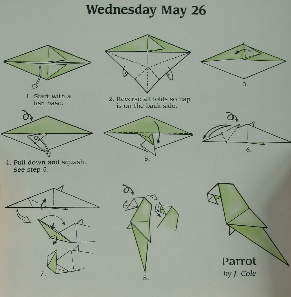 How To Fold An Origami Parrot Art Pinterest Diagram Page 2