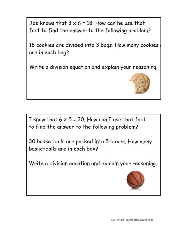 Division as an Unknown Factor Problems/FREE download | Teaching ...